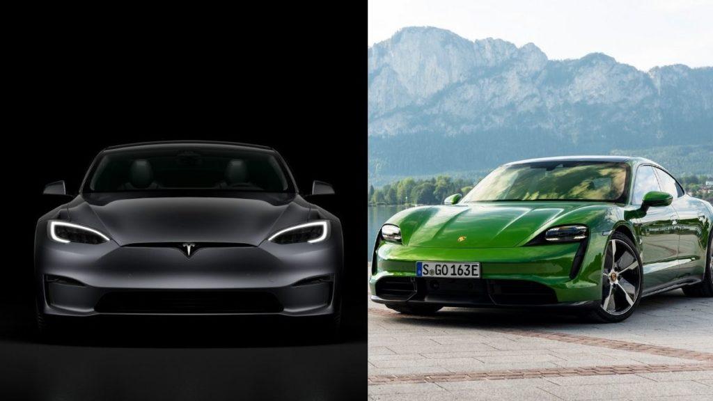 Comparación entre Porsche Taycan y Tesla Model S