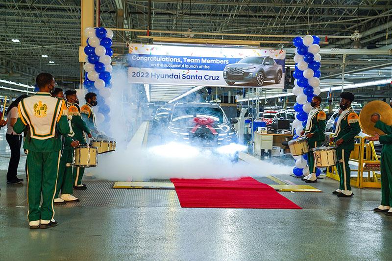 Hyundai Santa Cruz Arranque de producción