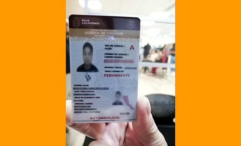 Licencia de conducir Baja California