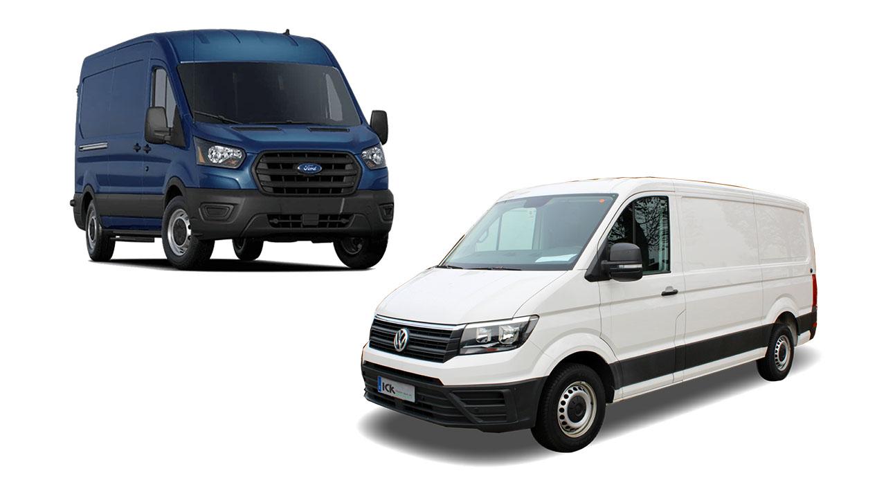 Ford Transit vs Volkswagen Crafter