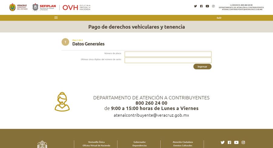 El pago de tenencia Veracruz se puede realizar vía online