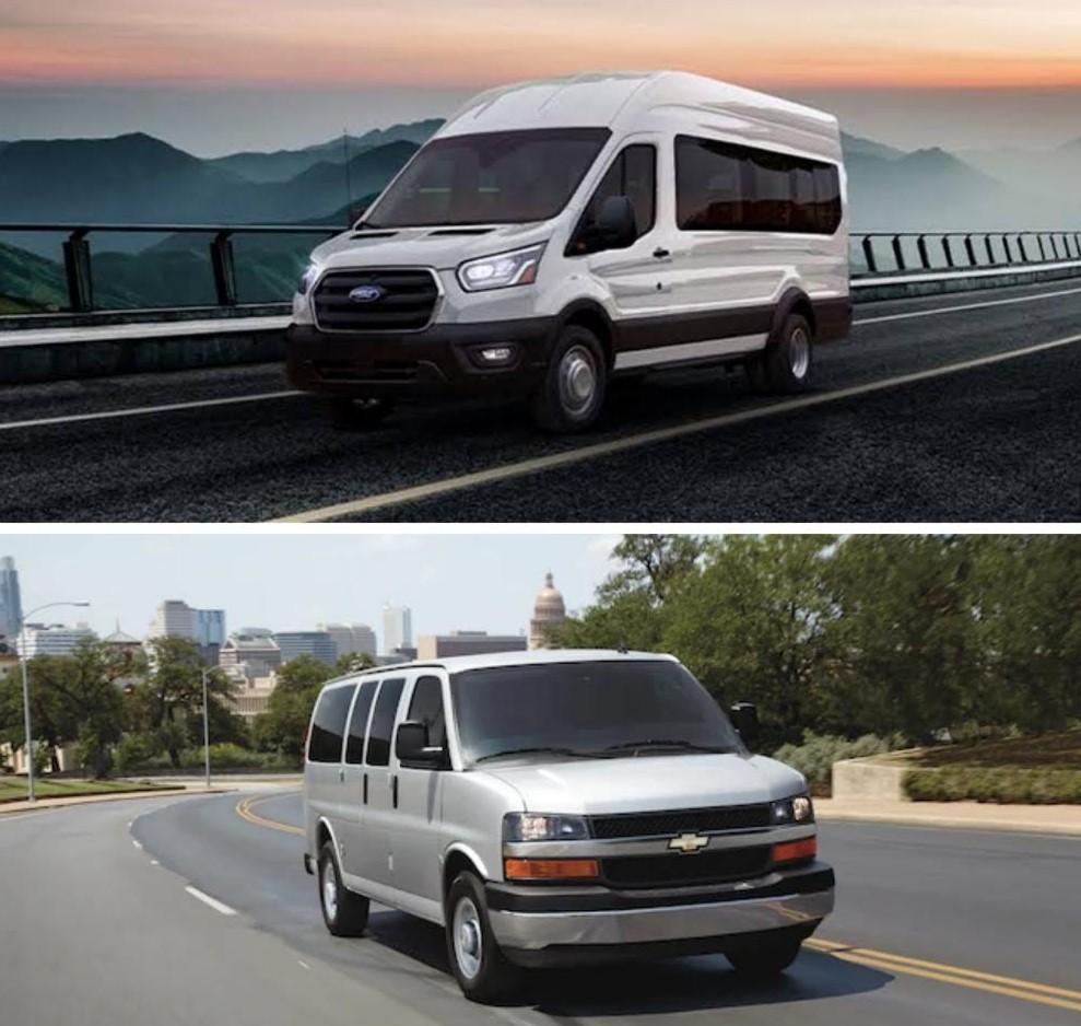 Comparación entre Ford Transit y Chevrolet Express