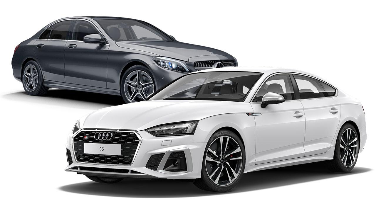 Audi S5 vs Mercedes-Benz Clase C