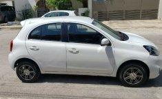 Nissan March sense 2015 std con clima bolsas de aire llantas nuevas controles al volante 1 dueño local-5