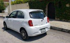 Nissan March sense 2015 std con clima bolsas de aire llantas nuevas controles al volante 1 dueño local-1