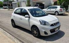 Nissan March sense 2015 std con clima bolsas de aire llantas nuevas controles al volante 1 dueño local-0