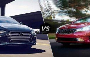 Comparativa: KIA Forte 2018 vs. Hyundai Elantra 2018