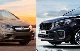 Comparativa: Honda Odyssey 2019 vs Kia Sedona 2019