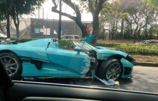 Otro Koenigsegg en México, otro accidente millonario