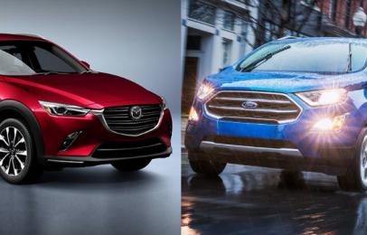 Comparativa: Mazda CX-3 2019 i Grand Touring 2WD vs. Ford EcoSport 2019 Titanium TA