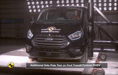 La Ford Transit Custom PHEV obtiene 5 estrellas en el Euro NCAP