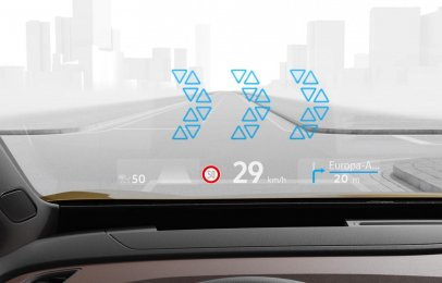 Volkswagen presenta su nuevo Head-Up Display de realidad aumentada