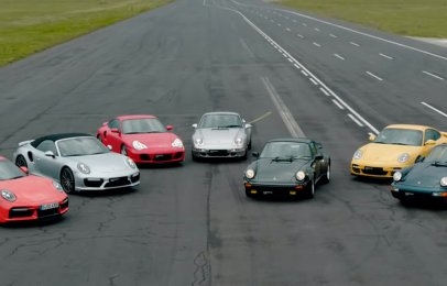 Video: Así se vivió la drag race de las 7 generaciones del Porsche 911 Turbo