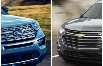 Comparativa: Ford Explorer XLT 2021 vs. Chevrolet Traverse LT 2021
