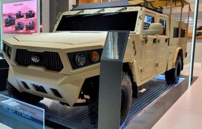 Kia KLTV, una imponente camioneta para uso militar