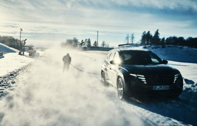 Video: El divertido Snow Challenge de Hyundai