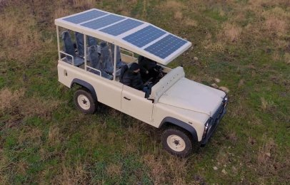 Video: La Land Rover Defender solar desarrollada para ir de safari