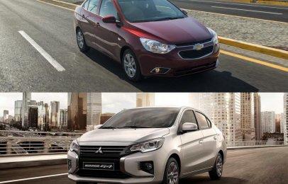 Comparativa: Chevrolet Aveo LT TM 2021 vs Mitsubishi Mirage G4 GLS MT 2021