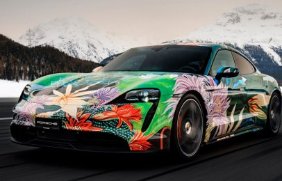 Subastan el exclusivo Porsche Taycan Artcar por causa benéfica