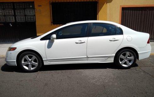 HONDA CIVIC 2008 BLANCO EXL SEDAN CDMX ASIENTOS/PIEL, QUEMACOCOS, AIRE/AC,