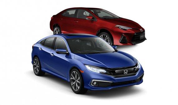 Comparativa: Toyota Corolla 2019 SE Plus vs Honda Civic 2019 Touring