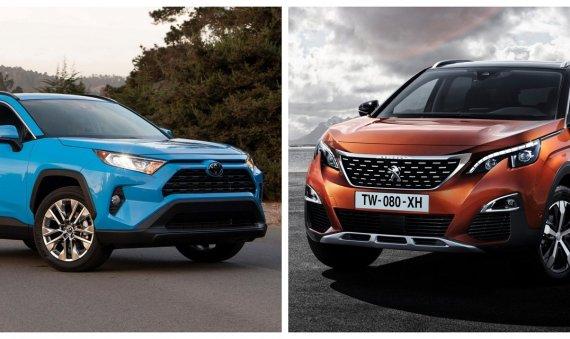 Comparativa: Peugeot 3008 Allure 2019 vs. Toyota RAV4 XLE 2019