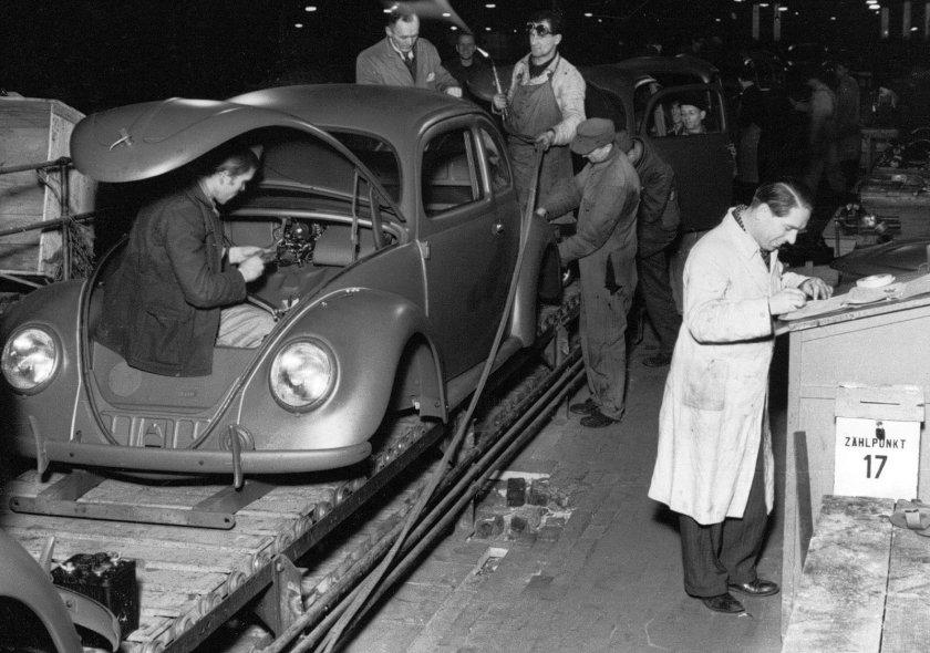 ¿Cuándo comenzó la producción del Volkswagen Beetle?